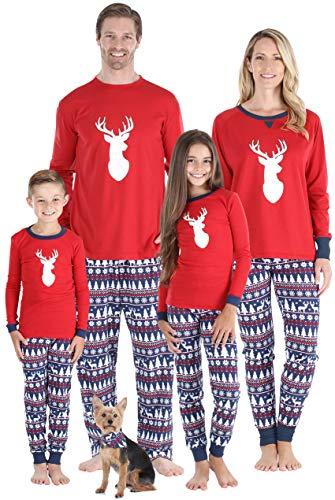 Sleepyheads Matching Family Christmas Pajama Sets, Red Blue Nordic Deer - Kids (SHM-5069-K-6) (Matching Pajamas Christmas Kohls)