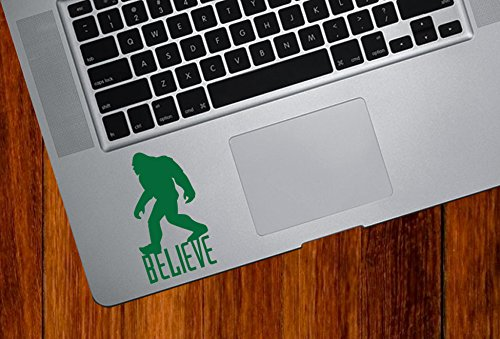 Sasquatch Believe D1 - Bigfoot - Yeti - Laptop | Trackpad | Tablet - Vinyl Decal Sticker YYDC (1.75