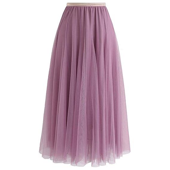 Chicwish Falda Maxi de Tul para Fiesta de Baile de graduación, de ...