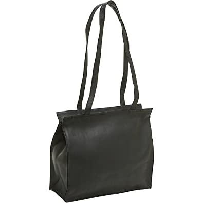 Le Donne Leather Simple Tote (Black): Handbags: Amazon.com