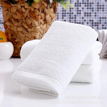 XXIN 100G De Toallas Blancas del Hotel Hotel Pedicura Toallas Blancas De Algodón Puro Blanco Puro
