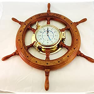 5189JHzL2hL._SS300_ Nautical Themed Clocks