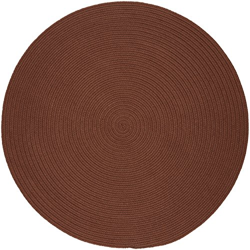 (Solid Round Rug, 8-Feet, Almond )