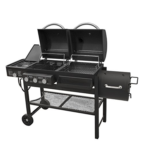 Smoke Hollow TC3718SB Gas-Charcoal-Smoker Combination Grill with Side Burner by Smoke Hollow (Image #1)