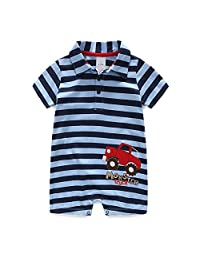Meiruian Baby Boy's Cute Rompers Cotton Jumpsuits Climbing clothes Short Sleeve