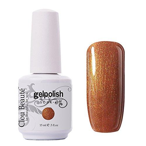 Clou Beaute Gelpolish 15ml Soak Off UV Led Gel Polish Lacquer Nail Art Manicure Varnish Color Light Glitter