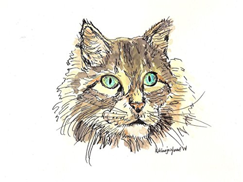 """""""Mouser"""" Cat Watercolor Print"""
