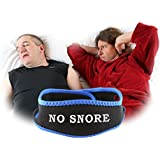 NoSnore - Anti Snoring Jaw Strap - Comfortable Headband Secures Chin During Rest - Free Ebook Included