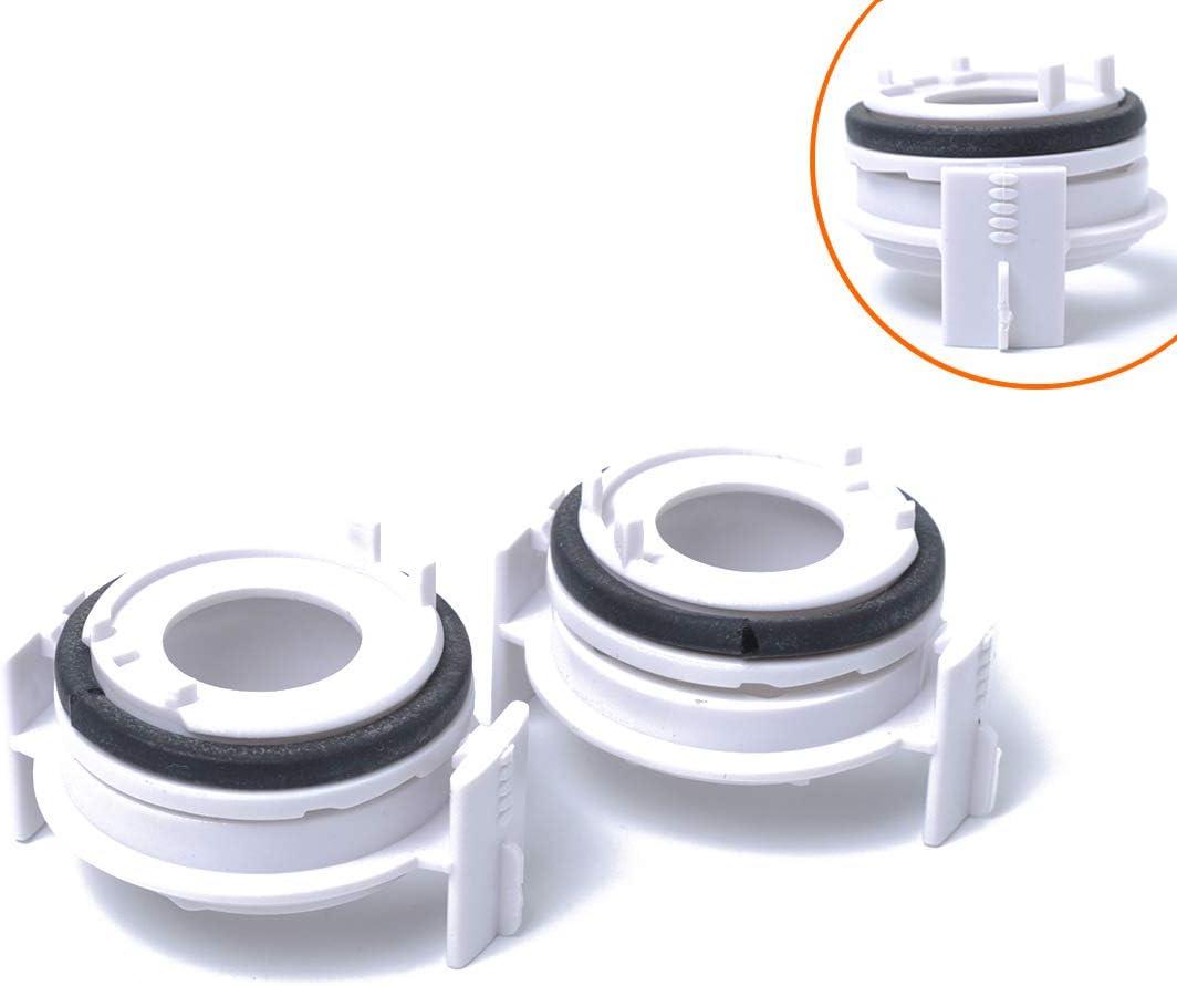 Pack Of 2 2Pcs H7 LED Bulb Socket Adapter Booth Headlights Retainer Base Holder 12V//35W White Xenon Fit For BMW 3 Series 98-04 318i//E65//E90
