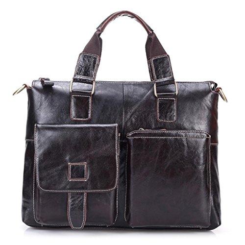 Men Vintage Leather Business Shoulder Handbag by Sonmer