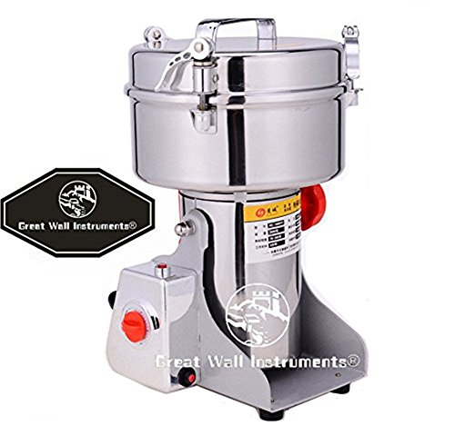 CGOLDENWALL Promotion 2000g super fine grain powder machine electric grain grinder mill Cereal herb spice Grinder for Corn soybean wheat spices by CGOLDENWALL