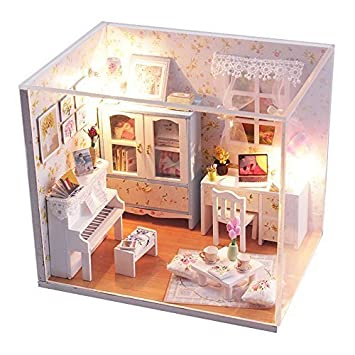 Rylai Dollhouse Miniature Diy House Kit Cute Room With Furnitiure