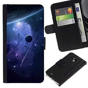 Espacio Planetas - la tarjeta de Crédito Slots PU Funda de cuero Monedero caso cubierta de piel Para Samsung Galaxy S4 Mini i9190 (NOT S4)