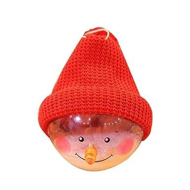 Amazon.com: Bonito sombrero de punto con diseño de muñeco de ...