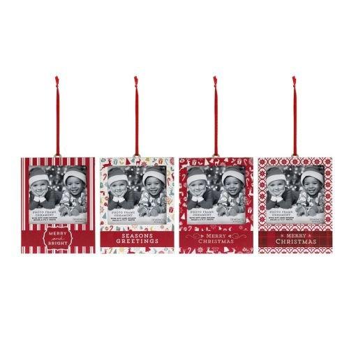 Demdaco Photo Frame Gift Card Holder Ornaments - 4 Assorted