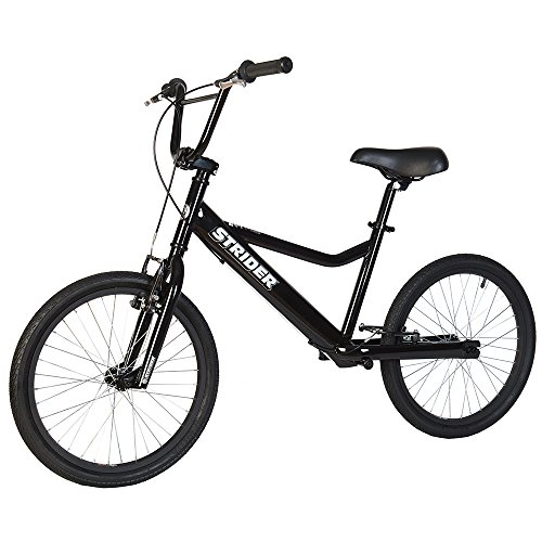 - Strider - Adult 20 Sport No-Pedal Balance Bike, Ages 11 Years & Up, Black