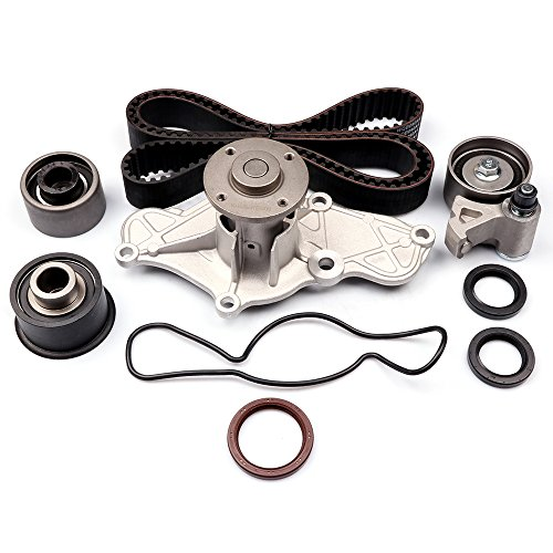 Engine Timing Belt Kit,ECCPP Automotive Replacement Timing Parts Set with Water Pump for 1995-2002 Mazda 626 Millenia Ford Probe ()