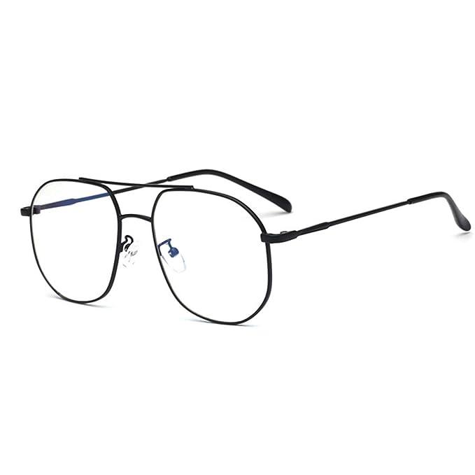 Amazon.com: D.King - Marco de gafas cuadradas de metal, sin ...