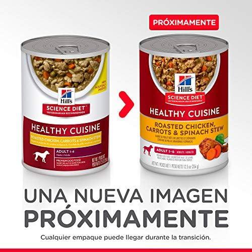Hill's Science Diet, Alimento para Perro Adulto Healthy Cuisine Estofado, Húmedo (lata) 354 gr, Paquete de 12 unidades 4