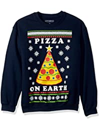 Hybrid Mens Pizza On Earth Holiday Pullover Suit Vest