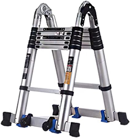 AA-SS- Ladder Escalera De ExtensióN Alta para Tejados De Oficinas En El áTico, PequeñAs Escaleras De Loft De Aluminio Profesionales PortáTiles, Carga 200 Kg: Amazon.es: Hogar