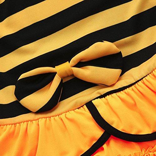 Sannysis Baby Bademode, Kind Baby Mädchen Striped Rüschen Badeanzüge Straps Romper Bade Outfits Schwarz