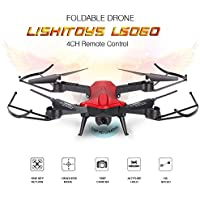 Hanbaili L6060W RC Folding Drone with 120°Wide-angle WIFI 720P Camera Real-time Transmission,One-Key Landing/Return,Trajectory Flight,Voice Control,Gravity Sensing,Best Drone For YOU