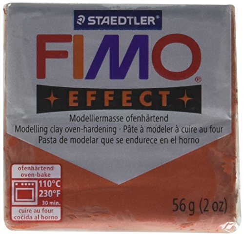 STAEDTLER Fimo Soft Polymer Clay 2 Ounces-8020-27 Metallic Copper