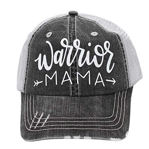 Warrior Mama Women's Mom Trucker Hats & Caps Black/Grey ()