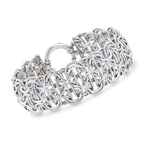 RossSimons Sterling Silver Modified ByzantineLink Bracelet