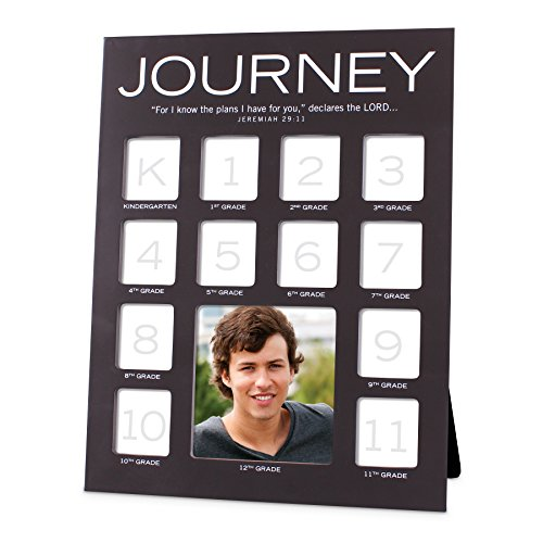 Christian Photo - Lighthouse Christian Products School Journey 13 Photo Collage Frame, Grey