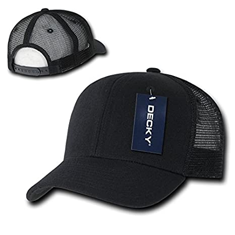 Amazon.com  DECKY 6 Panel Curve Bill Trucker Cap 44372c64387