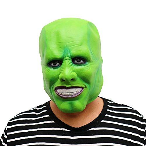 Le Masque Jim Carrey Masque - Parfait pour Carnaval, Carnaval et Halloween - Costume adulte - Latex, unisexee Taille unique
