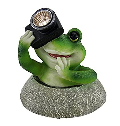 Say Cheese Frog w/Camera LED Solar Light
