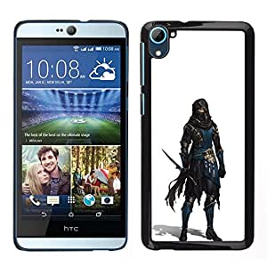 YiPhone /// Prima de resorte delgada de la cubierta del caso de Shell Armor - Carácter Pc Juego Blanco Héroe - HTC Desire D826