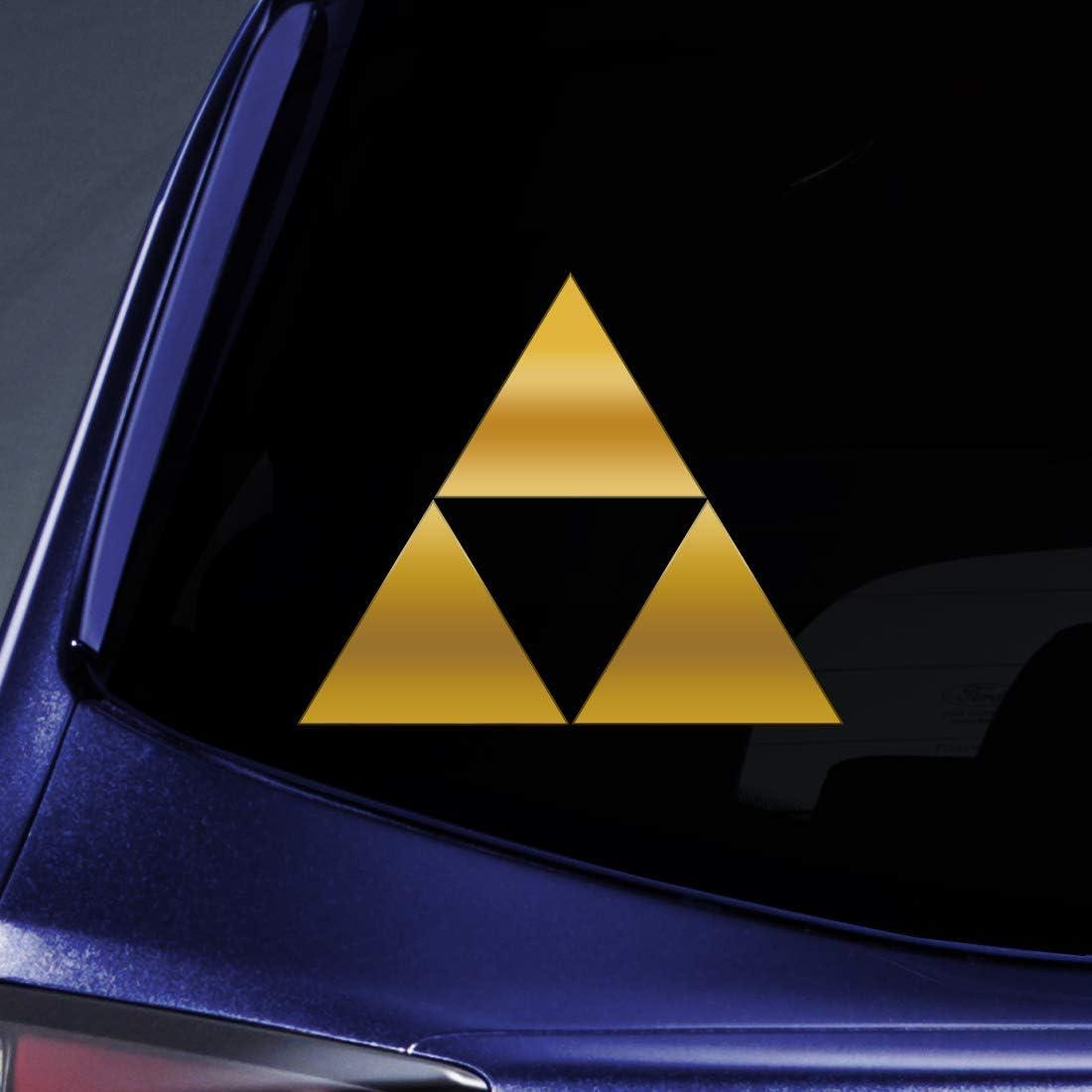 "Bargain Max Decals - Triforce Logo Sticker Decal Notebook Car Laptop 5"" (Gold)"