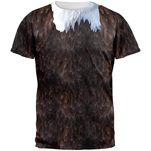 Halloween Bald Eagle Costume All Over Adult T-Shirt - -