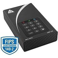 Apricorn Aegis Padlock DT FIPS ADT-3PL256F-3000 3 TB 3.5 External Hard Drive - USB 3.0 - 7200 rpm - 8 MB Buffer - Desktop - ADT-3PL256F-3000