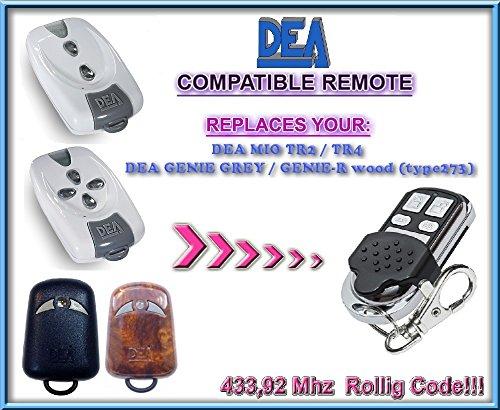 Price comparison product image DEA GENIE GREY / DEA GENIE-R replacement remote control / 433, 92Mhz Rolling code