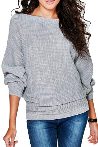 Haloon Womens Half Sleeve Sweater Shirt Round Neck Pullover Casual Loose Tee Tops