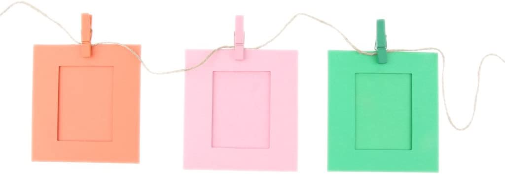 3 Inches Square Paper Photo Frames for Washing Line Hanging Gallery On Line
