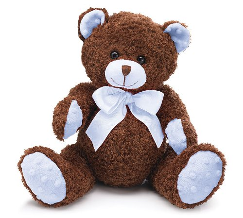 Blue & Brown Plush Teddy Bear Adorable Stuffed Animal