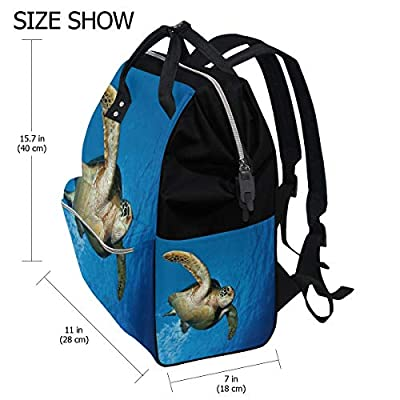 Fashion Diaper Bags Mummy Backpack Turtle Under The Sea Multi Functions Large Capacity Nappy Bag Nursing Bag for Baby Care for Traveling