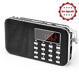PRUNUS Mini Portable Ultrathin AM / FM MP3 Radio with Emergency flashlight function