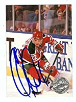Claude Lemieux autographed Hockey Card (New Jersey Devils) 1992 Pro Set #196 - Autographed Hockey Cards