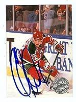 Claude Lemieux autographed Hockey Card (New Jersey Devils) 1992 Pro Set #196 - Autographed Hockey Cards