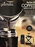 Primula Color Tempo 6 Cup Glass Coffee French Press & 12oz Thermal Tumbler