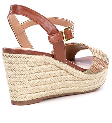 Lauren Ralph Lauren Women's Keara Sandal Natural/Jute Stripe B7owKl