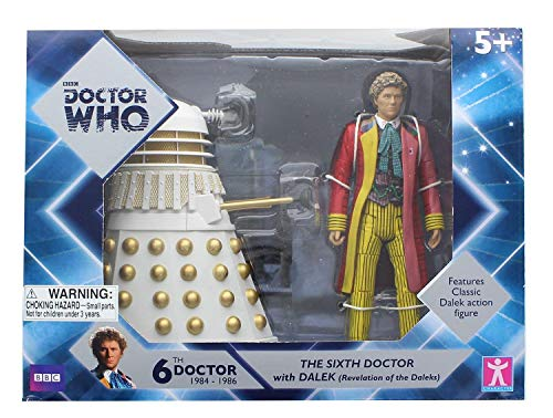 Doctor Who 6th Doctor w/ Dalek 6 Inch Figure Set - Revelation of The Daleks