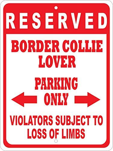 Dozili Custom Sign Border Collie No Parking Sign Aluminum Sign Metal Tin Sign Plate